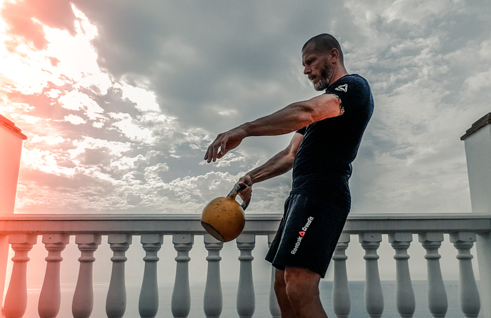 Man with Kettle bell
