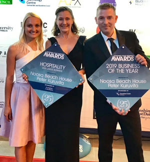 Noosa Beach staff receiving award