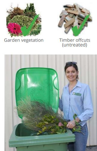 What can go in Green waste chart