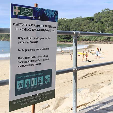 Picture to accompany media release about beach and park use during pandemic