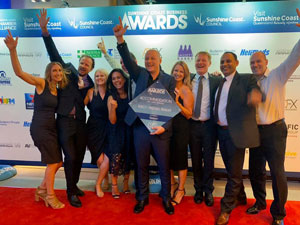 RACV Noosa resort staff receiving award